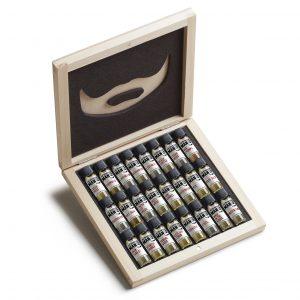 bearded man oil samples